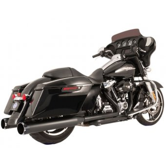 Ligne Echappement S&S Touring 17Up Milwaukee Eight El Dorado True Dual Noir Embout Thruster