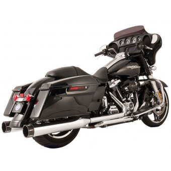 Ligne Echappement S&S Touring 17Up Milwaukee Eight El Doado True Dual Chrome Embout Tracer