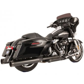 Ligne Echappement S&S Touring 17Up Milwaukee Eight El Doado True Dual Noir Embout Tracer