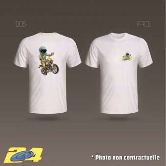 T-Shirt 2A4 Salut motard homme double impression