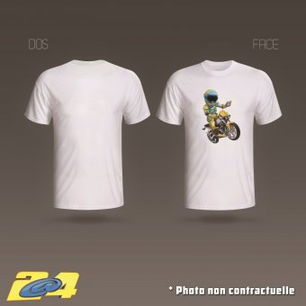 T-Shirt 2A4 Salut motard homme simple impression
