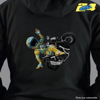 Sweat ZIP à capuche 2A4 Wheeling homme double impression
