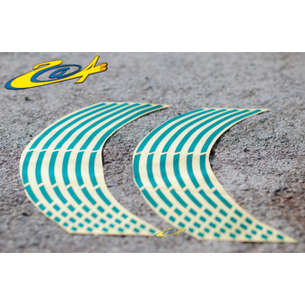 Wheel Stripes/Filets de jantes Race Vert