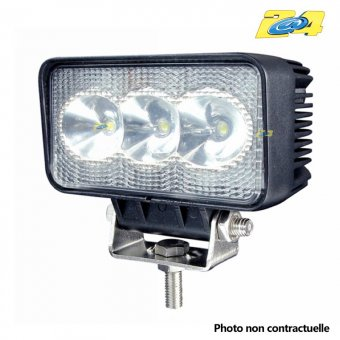Optique LED 9W grand angle - 3x3W