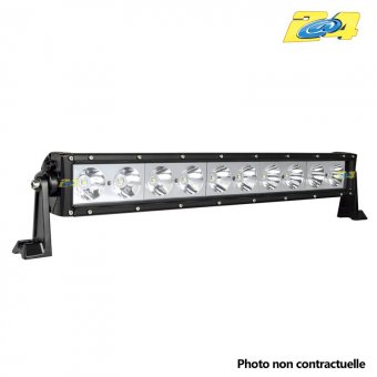 Barre LED 100W grand angle - 10x10W