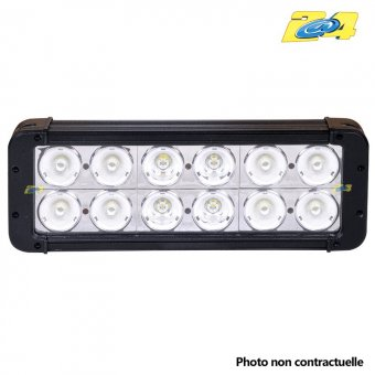 Barre double LED 120W mixte - 12x10W