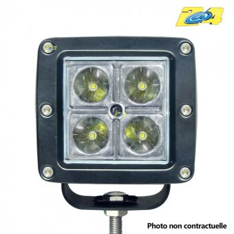 Optique LED 16W grand angle - 4x4W