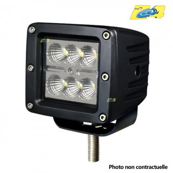 Optique LED 18W grand angle - 6x3W