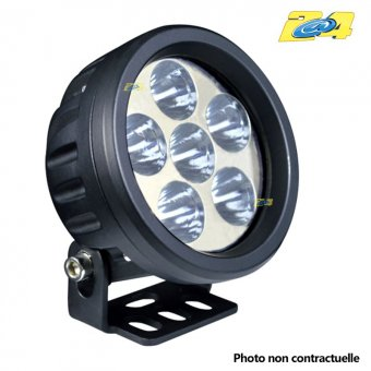 Optique LED 18W rond grand angle - 6x3W