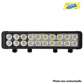 Barre double LED 200W mixte - 20x10W