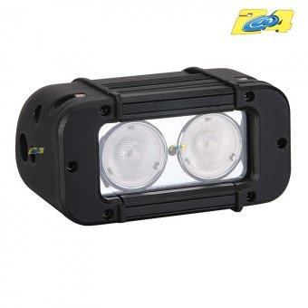 Optique LED 20W grand angle - 2x10W