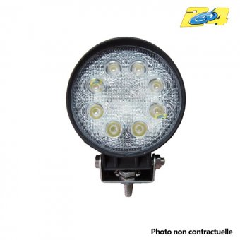 Optique LED rond 24W grand angle - 8x3W
