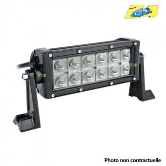 Barre double LED 36W mixte - 12x3W