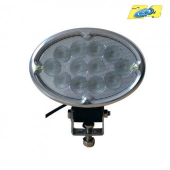 Optique LED ovale 36W grand angle - 12x30W