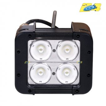 Spot LED carré 40W grand angle - 4x10W